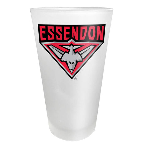 AFL Glass Frosted Essendon