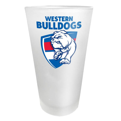 AFL Glass Frosted Western Bulldogs