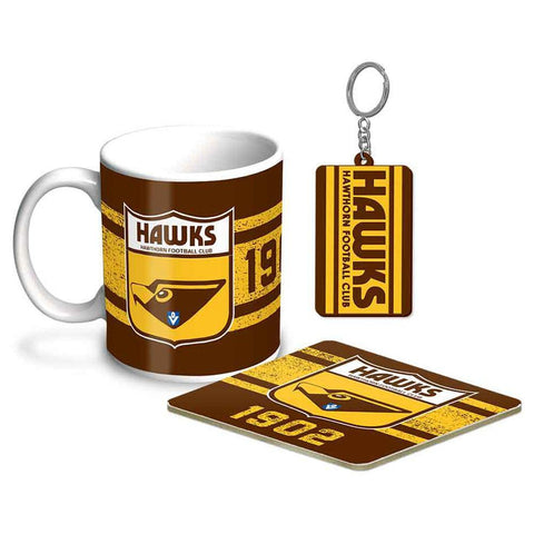 AFL Coffee Mug & Coaster Hawthorn