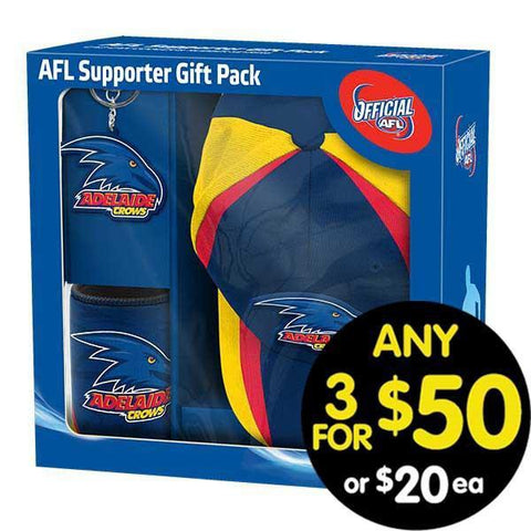 AFL Gift Pack Cap Keyring and Can Cooler Adelaide