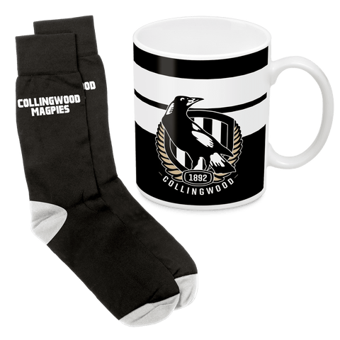 AFL Mug & Sock Gift Pack Collingwood