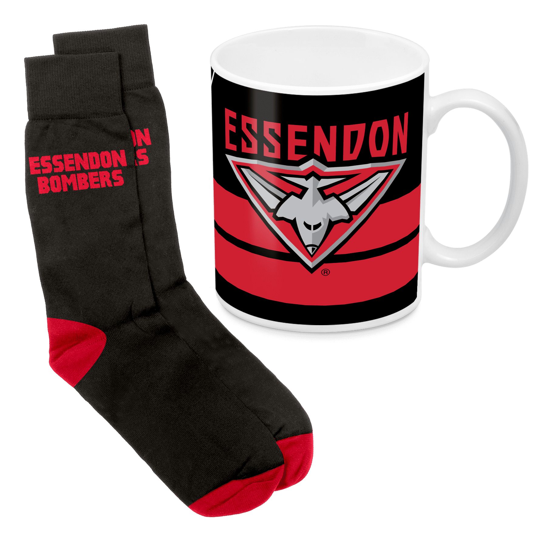 AFL Mug & Sock Gift Pack Essendon