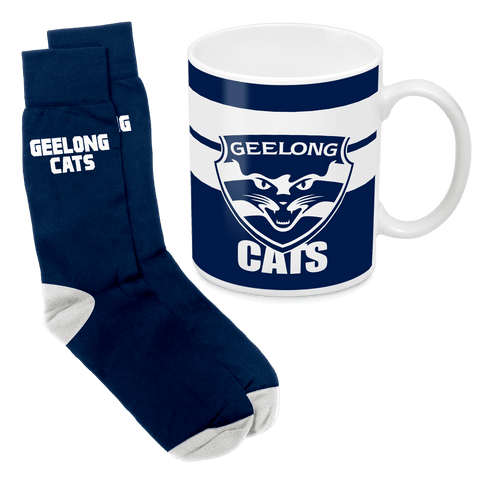 AFL Mug & Sock Gift Pack Geelong