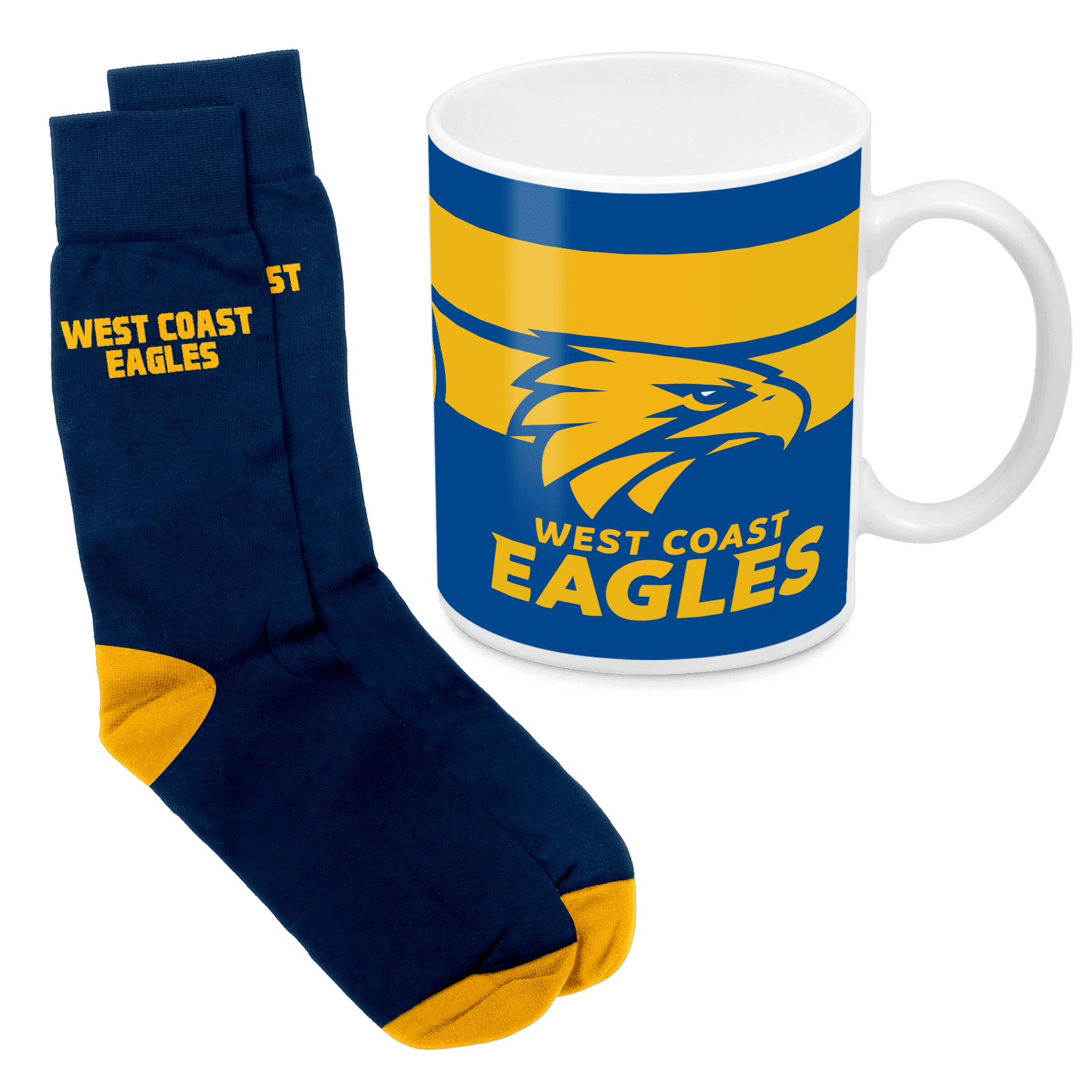 AFL Mug & Sock Gift Pack West Coast