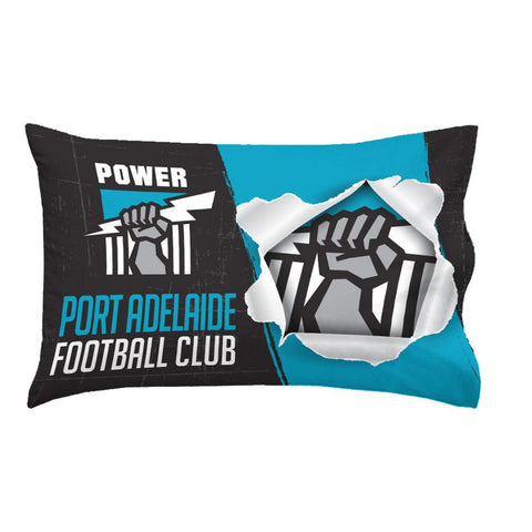 AFL PILLOW CASE 73X48CM PORT ADELAIDE
