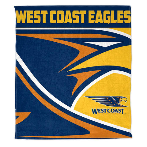 AFL THROW RUG POLAR FLEECE 150X130CM WEST COAST