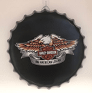 Harley Davidson Bottle Cap America Hero Wall Art