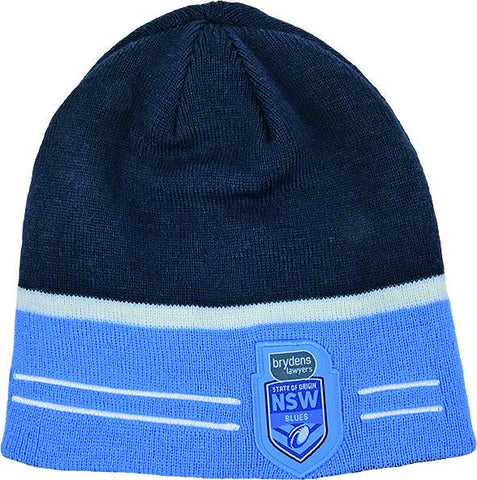 NRL State of Origin 2 Sided Beanie NSW
