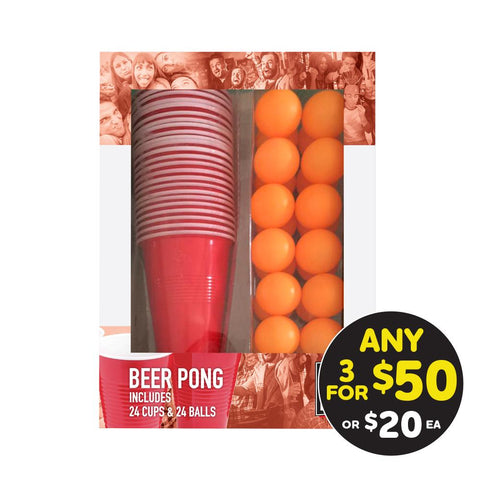 Drink King Beer Pong (Set of 24)