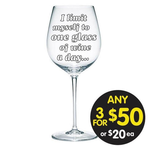 Limit Myself to One 900ml Wine Glass