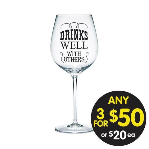 Drinks Well with Others 700ml Wine Glass