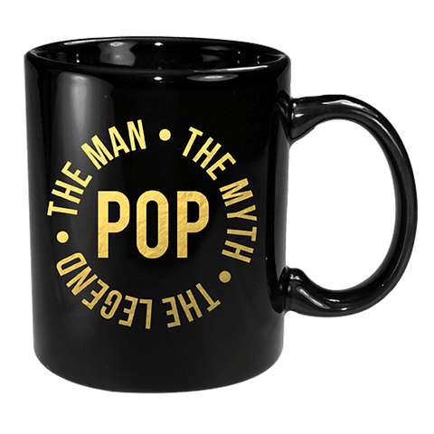Coffee Mug - Pop Black & Gold The Man, Myth & Legend 12 Oz
