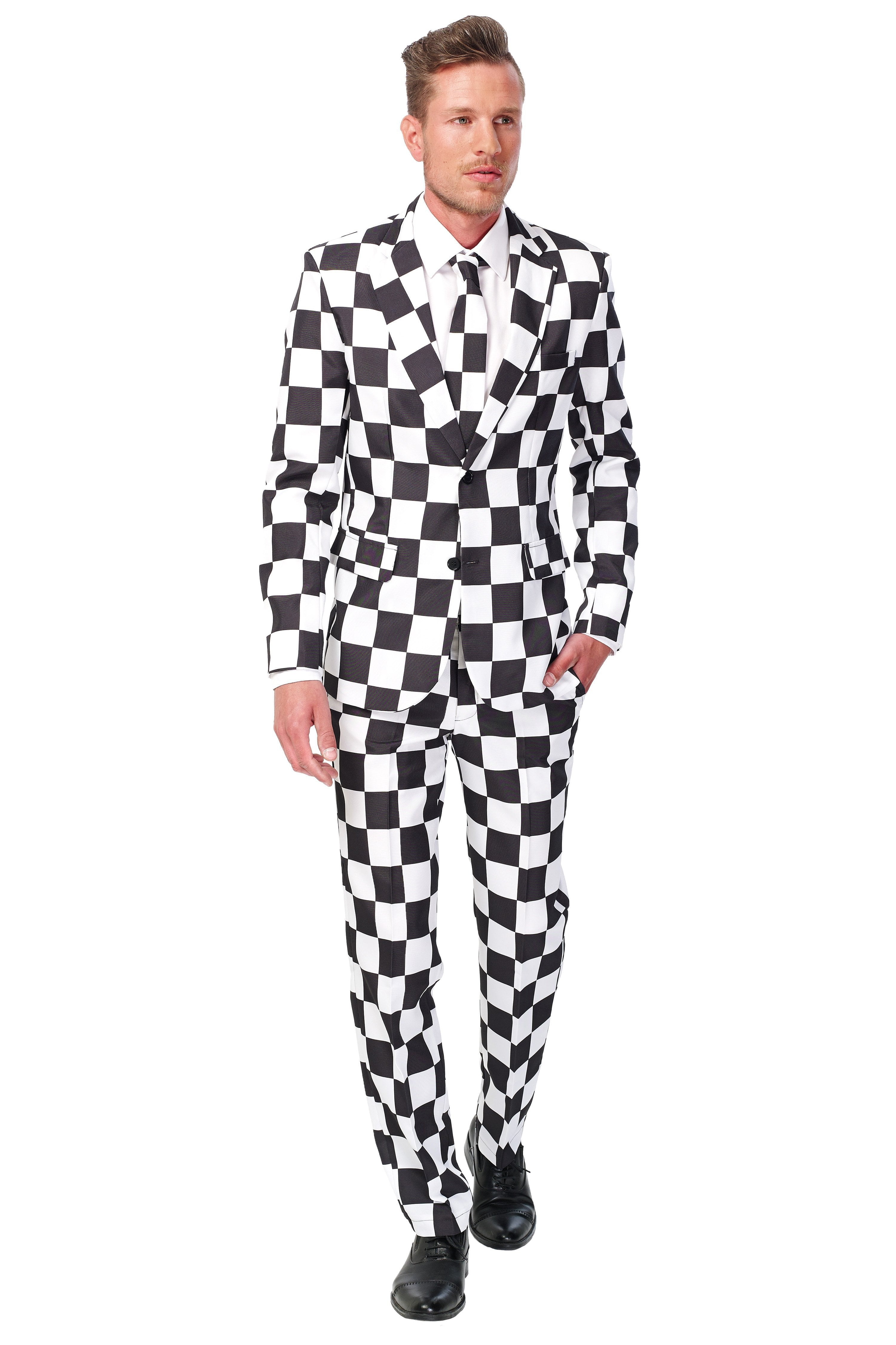 Suitmeister Black and White Suit