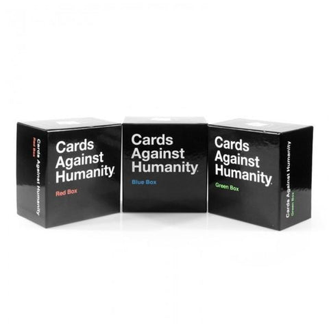 Cards Against Humanity Red, Blue & Green boxes