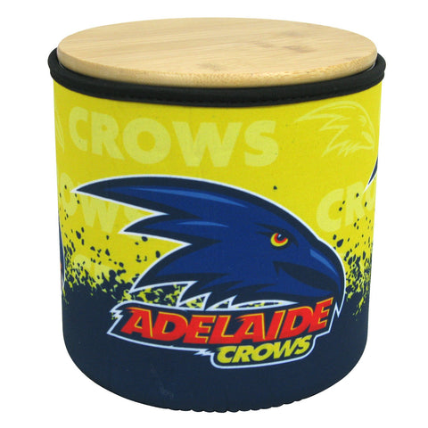 AFL Adelaide Crows Cookie Jar with Neoprene Cover