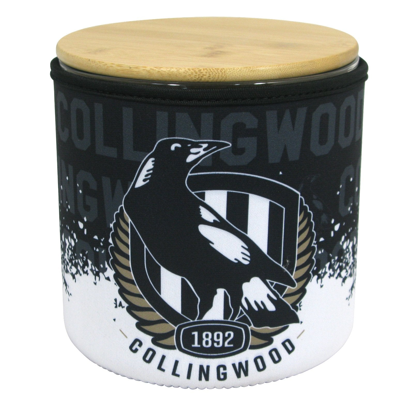 AFL Cookie Jar With Neoprene Cover Collingwood