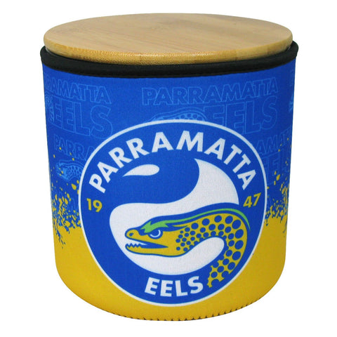 NRL Cookie Jar With Neoprene Cover Eels