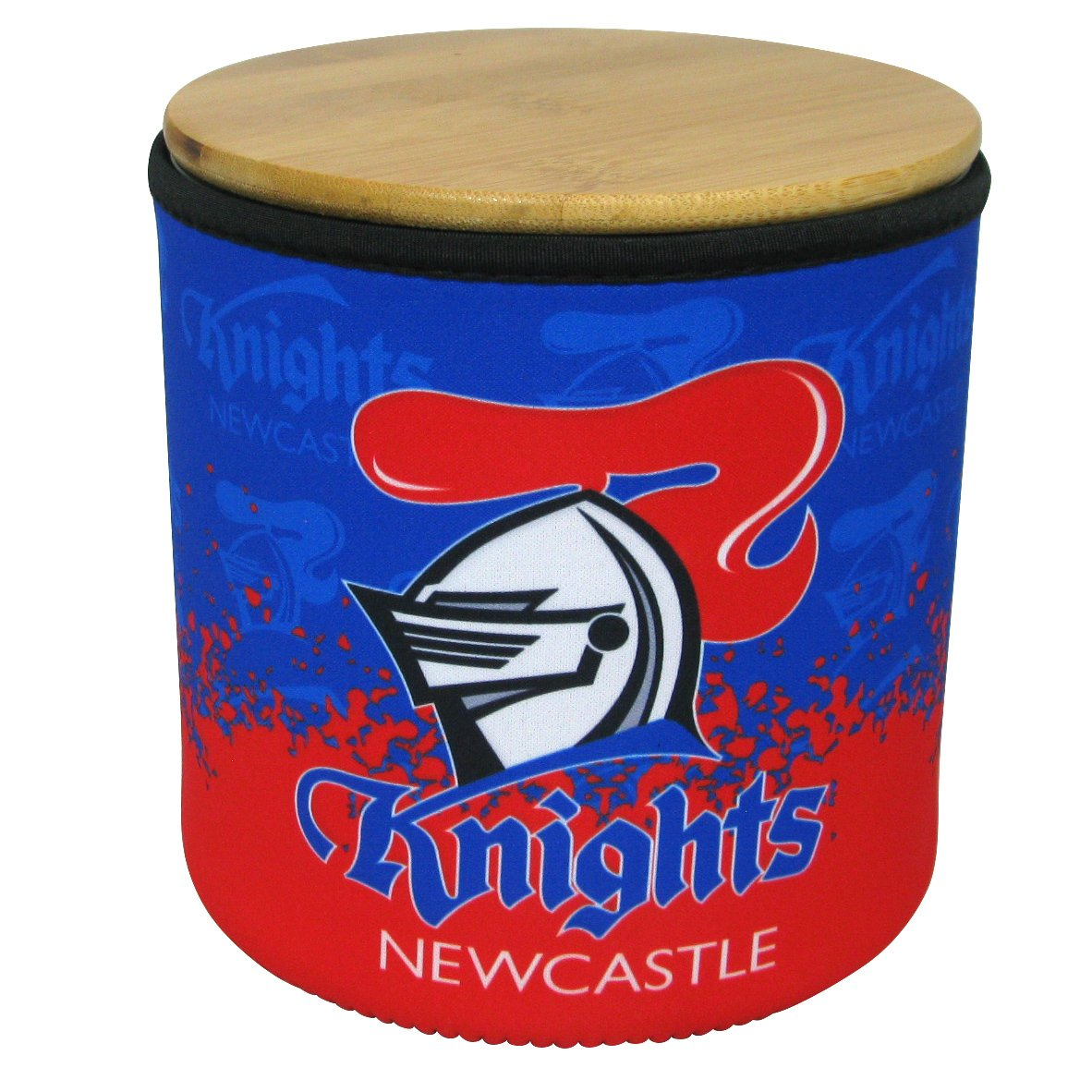 NRL Cookie Jar With Neoprene Cover Knights