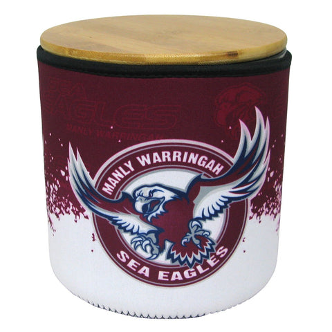 NRL Cookie Jar With Neoprene Cover Manly