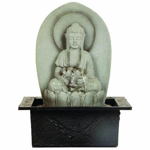 Water Fountain With Light Tranquil Buddha