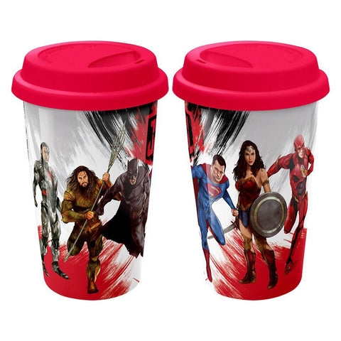 Justice League Movie Character Travel Mug