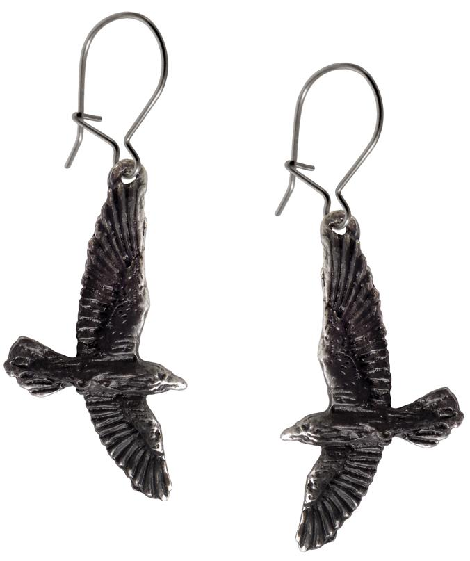 Alchemy Earring Droppers Black Raven