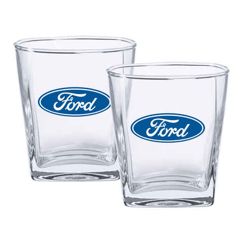 Ford Spirit Glasses Logo Set Of 2
