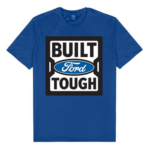 Ford Built Tough Blue  T-Shirt  Mens