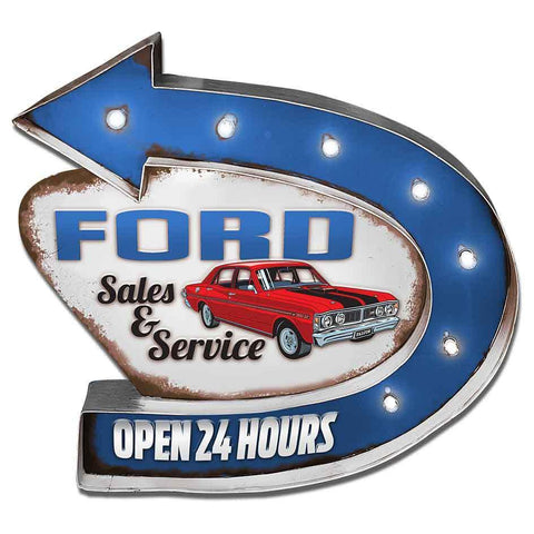 Ford Light Up Service Sign