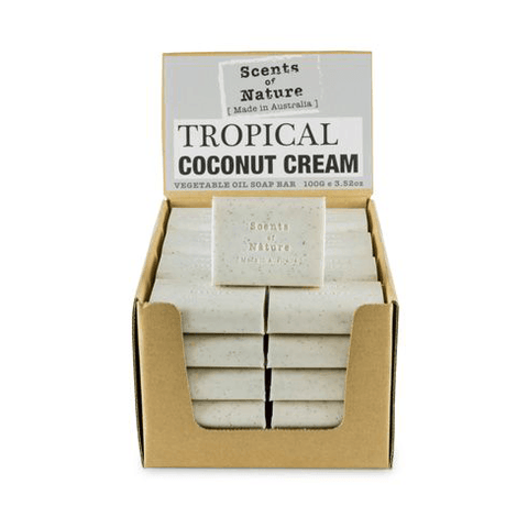 Tropical Coconut Cream 100g  Scents of Nature Soap Bar