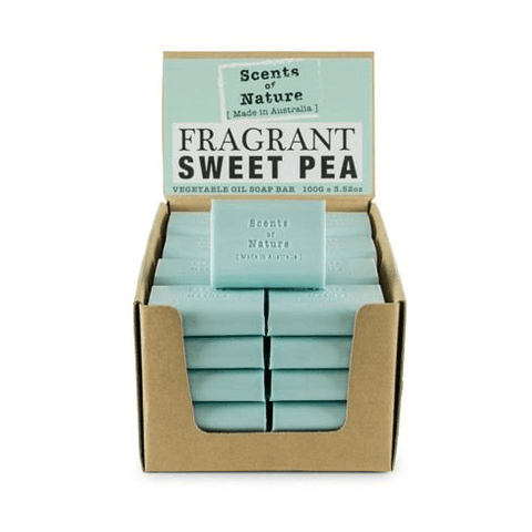 Fragrant Sweet Pea 100g Scents of Nature Soap Bar