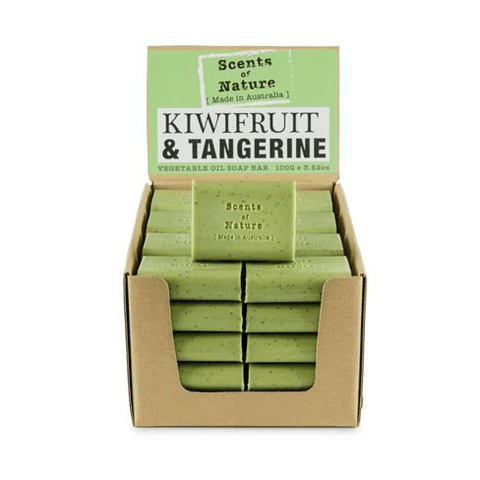 Kiwifruit And Tangerine 100g Scents of Nature Soap Bar