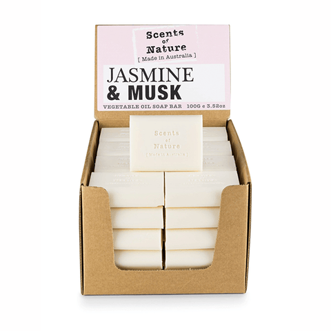 Jasmine & Musk 100g Scents of Nature Soap Bar