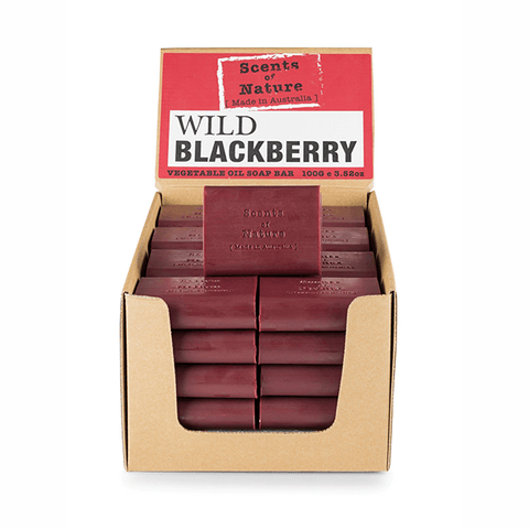 Wild Black Berry 100g Scents of Nature Soap Bar