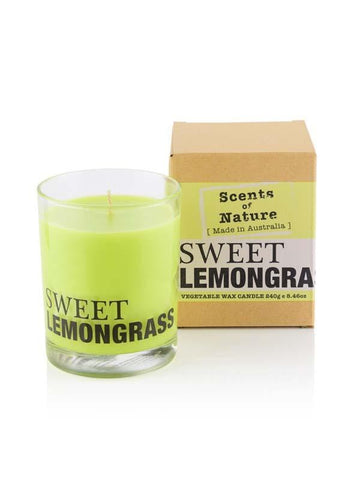 Sweet Lemongrass 240g Scents of Nature Candle