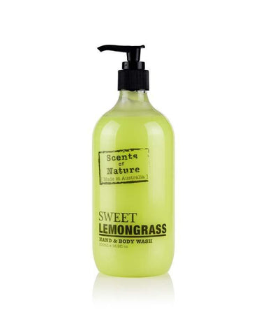 Sweet Lemongrass 500ml Scents of Nature Body Wash