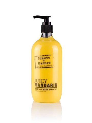 Juicy Mandarin 500ml Body Scents of Nature Lotion