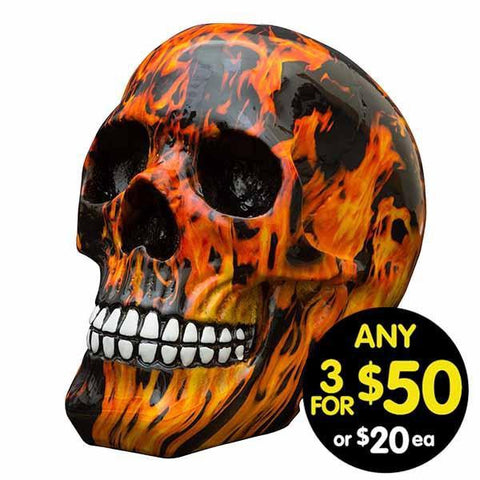 Decor Skull Flames