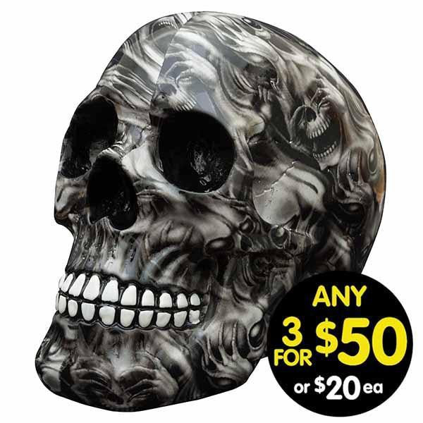 Decor Skull Ghost Skulls