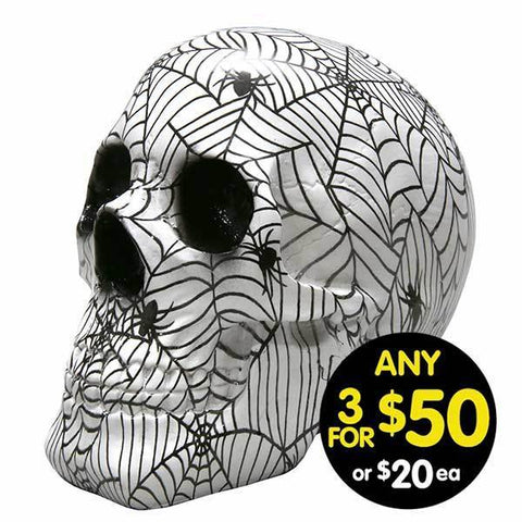 Decor Skull Spiderwebs