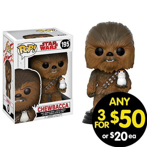 Star Wars Pop Vinyl Chewbacca With Porg