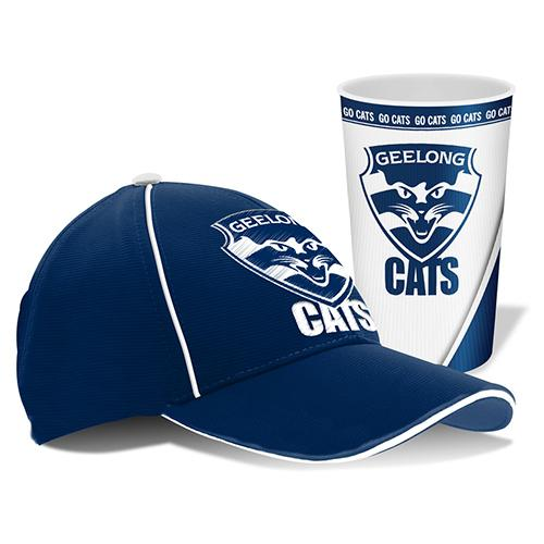 AFL Cap And Tumbler Pack Geelong