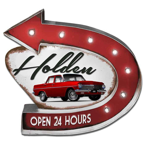 Holden Light Up Garage Sign