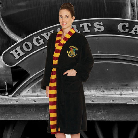 Harry Potter Bath Robe Hogwarts Ladies