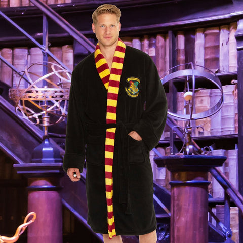 Harry Potter Bath Robe Hogwarts Mens