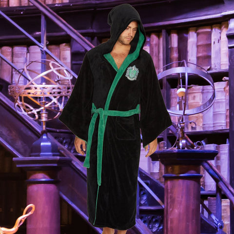 Harry Potter Bath Robe Slytherin Mens