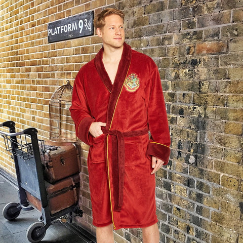 Harry Potter Bath Robe 9¾ Mens