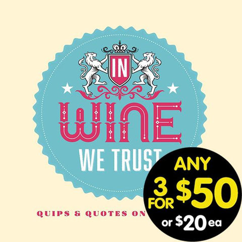 In Wine We Trust Book Novelty Book