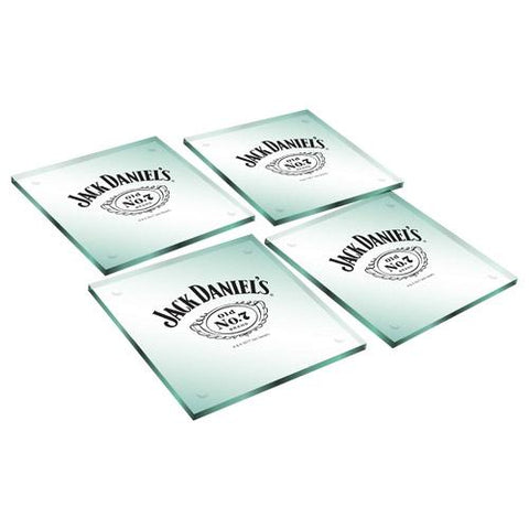 Jack Daniels Coasters Glass Set Of 4