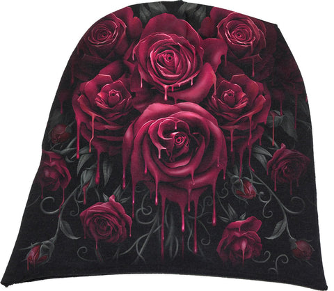 Spiral Blood Rose Beanie